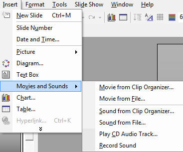 Preview of adding Movies and Sounds into Powerpoint