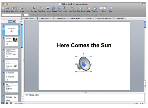 Preview of Powerpoint Songbooks
